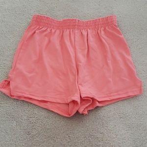 😎SOFFE Juniors Jersey Shorts Sz XS Coral